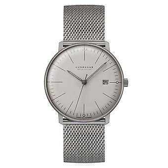 Junghans Max Bill Mega Energia Solar 059/2022.48 Silver Dial Silver Milanese Strap Men's Watch