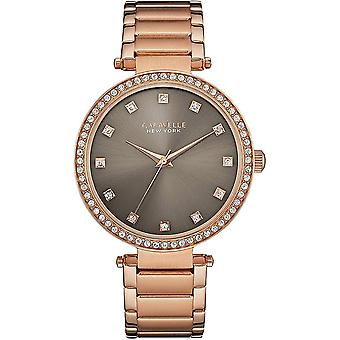 Caravelle Watch 44L211 - Plated Stainless Steel Ladies Quartz Analogue