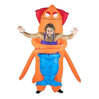 Inflatable Squid Monster Halloween Costume Trick Or Treat One Size Fits All Adults