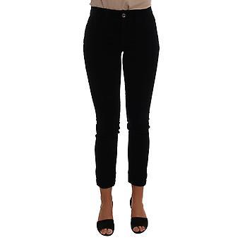 Dolce & Gabbana Siyah Kadife Pamuk Streç Jeans BYX1115-2