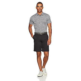 Essentials Men's Tech Stretch Polo Shirt, Dark Grey Heather, Large