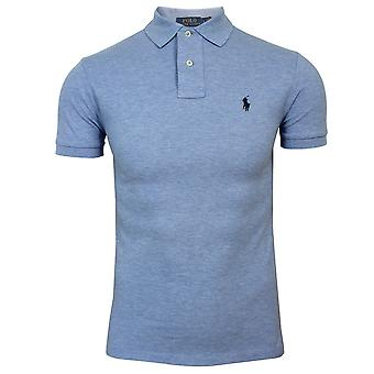 Ralph lauren men's slim fit blue polo shirt