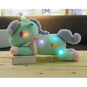 1pc 55cm Toy Light And Colorful Unicorn Plush Toy &girls