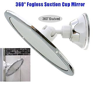 Fogless Makeup Mirror With Holder Suction Cup 360-rotation Shower Shave For Bathroomtravel