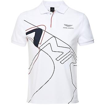 Hackett Exploded Graphic Polo Shirt