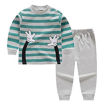 Cartoon Print Baby / Pajamas Sets- Cotton Toddler Sleepwear, Autumn Winter Long