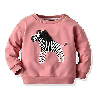Hoodies Infant Zebra Pattern T-shirt Toddler Long Sleeve Round Neck Pullover