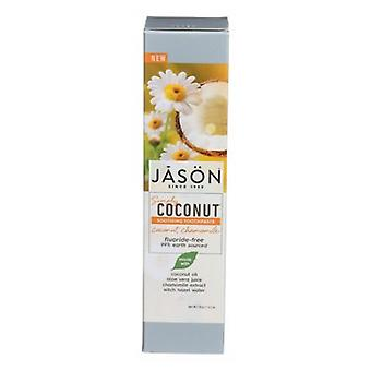 Jason Natural Products Soothing Toothpaste Coconut Chamomile, 4.2 Oz