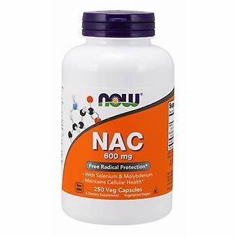 الآن الأطعمة Nac-Acetyl سيستين، 600 ملغ، 250 قبعات
