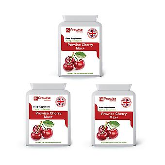 Cherry Max 750mg 90 Capsules Pack Of 3 | Suitable For Vegetarians & Vegans | Made In UK