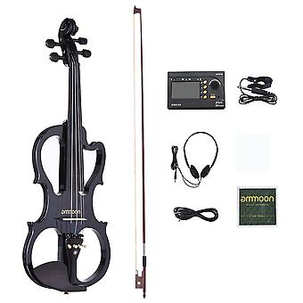 Premium Silent Electric Violin Set With Audio Cable And Headphones