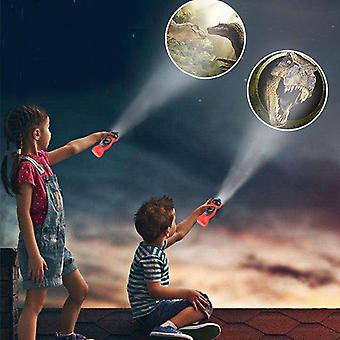 Baby Sleeping Led Dinosaur Projector Lamp, Patterns Flashlight Projector