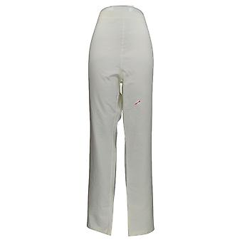 Mujeres con Control Mujeres's Pantalones Alto Pull-On Slim Leg Marfil A310163