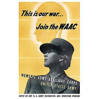 Digitally restored war propaganda poster Poster Print