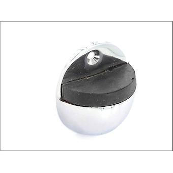 Securit Oval Door Stop Chrome 50mm S2984