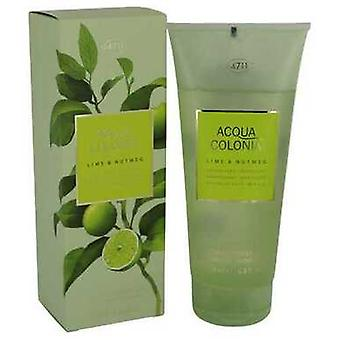 4711 Acqua Colonia Lime & Nutmeg By Maurer & Wirtz Shower Gel 6.8 Oz (women) V728-540788