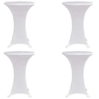 vidaXL Барные столовые крышки 4 шт. Ø 80 см Белый стрейч