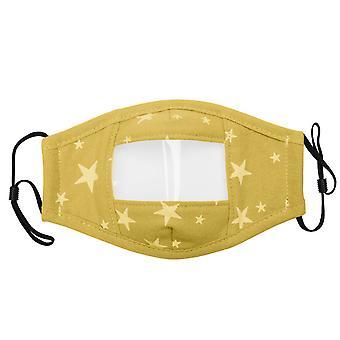 YANGFNA sordos niños máscara de cara con ventana clara