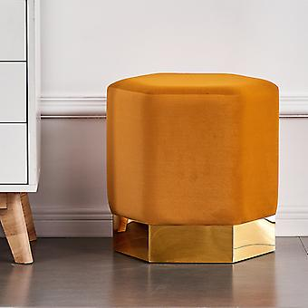 Lucci Lux Pouffe Mosterd