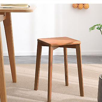 Handmade Solid Wood Stool Rustic Bench Seating Kitchen Dining Chair