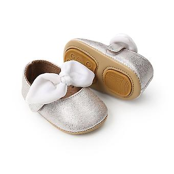 0-18m Baby Pu Leather Shoes Bow Fringe Soft Soled Non-slip Footwear Crib Shoes