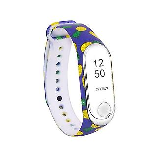 Colorful Soft, Silicone Strap, Watchband Smart Watch, Flower Printed, Wrist