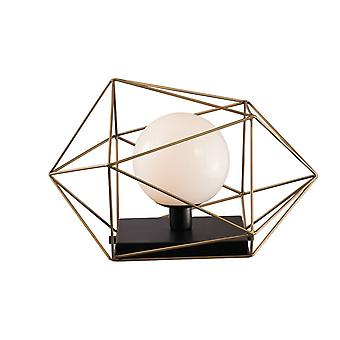 Fan Europe Abraxas - Globo Cage Table Lamp, Preto, Ouro, E27