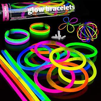 100 Glow Sticks Party Pack Premium Glowhouse Glow Stick Armbänder (gemischt) - uk marke