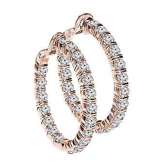 1.50 Carat Hoop Earrings Rose Gold