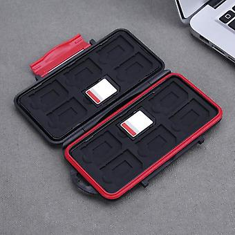 Storage Memory Card Case Waterproof Shockproof 12sdtf Cards Box Holder Box