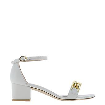 Stuart Weitzman Amelina50lauwht Women's White Patent Leather Sandals