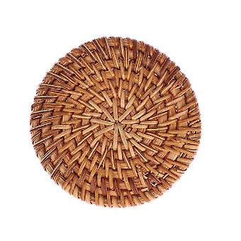 Round Natural Rattan Coasters  - Handmade, Insulation Placemats Table Padding