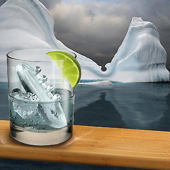 Bandeja de gelo de gim e titônica