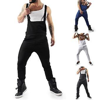 Autumn Fashion Men Long Pants, Jumpsuits, Mens Suspender Pant, Solid Sleeveless