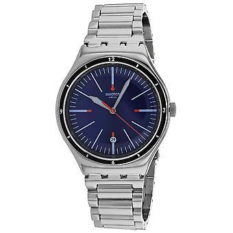 Swatch Men's Angrey Blue Dial Watch - YWS418G