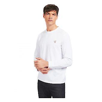 GUESS Guess Uomo Organic Core T-shirt a manica lunga Bianco