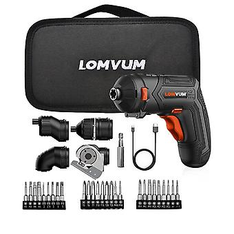 Mini Usb Rechargeable Electric Screwdriver Set, Cordless, Changeable,