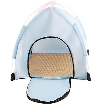 Pet Tent House, 2-in-1 Self-warming Comfortable Triangle Cat Bed Pet Tent House