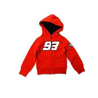 Marquez 93 Røde børn Zip Fleece Hoodie