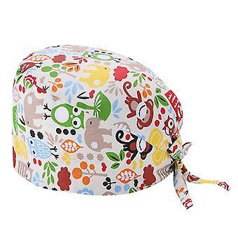 Fashion Solid Print Work Hat, Casual Unisex Nurse Cap, Sanitary Hats