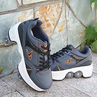 Casual Sneaker Walk Rullaluistimet Epämuodostunut Runaway Nelipyöräiset Luistimet