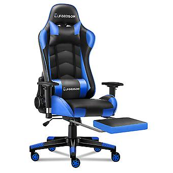 ELFORDSON Gaming Chair Office Executive Racing Seat PU Leather REGAN Blue