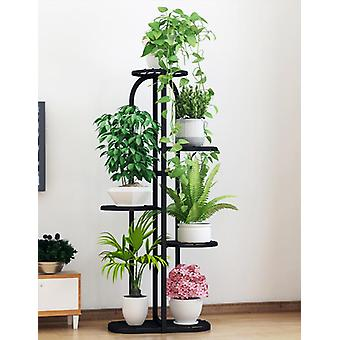 Flower Pot Shelf Wrought Iron Interior Decoration Floor-standing Multi-layer