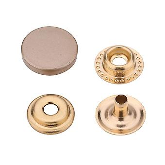 12.5mm, 4 Part Press Studs Durable Snap Fasteners with Alloy Cap Snaps