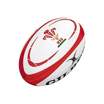 Gilbert Wales Supporter Rugby Union Team Rugby Ball White/Red - Midi