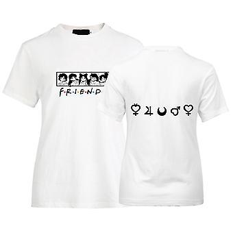 Cartoon Print Friends T-shirt For Girls