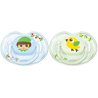 Avent Pacifiers Classic 0 to 6 Months 2 pcs
