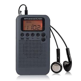 Mini Lcd Digital Fm/am Radio Speaker With Alarm Clock Time Display Function