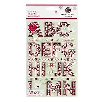 Martha Stewart - Scandi Large Alpha Stickers