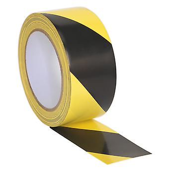 Sealey Hwtby Hazard Warning Tape 50Mm X 33Mtr Black/Yellow